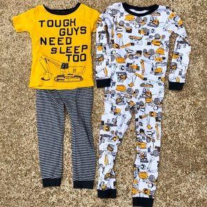 4T Carter's Construction Pajama Bundle